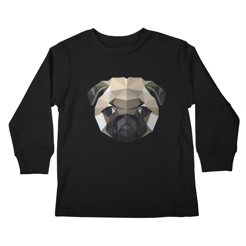POLY PUG LIFE Kids Longsleeve T-Shirt by igloo's Shiny Things