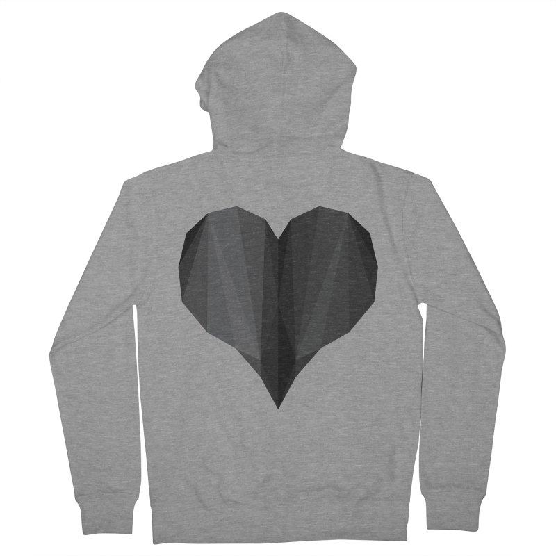 Dark Heart Men's Zip-Up Hoody by igloo's Shiny Things