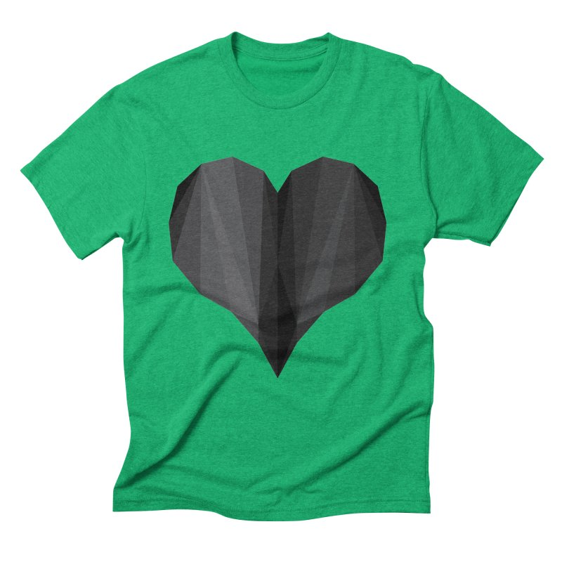 Dark Heart Men's Triblend T-Shirt by igloo's Shiny Things