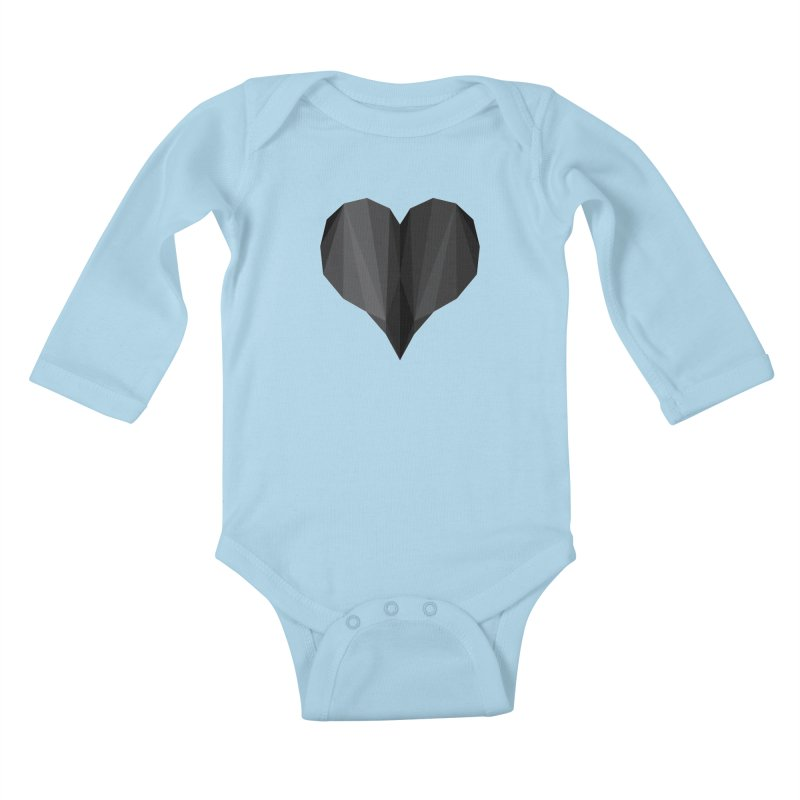 Dark Heart Kids Baby Longsleeve Bodysuit by igloo's Shiny Things