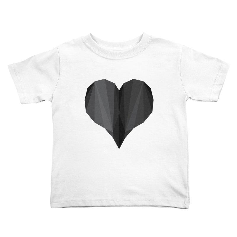 Dark Heart Kids Toddler T-Shirt by igloo's Shiny Things