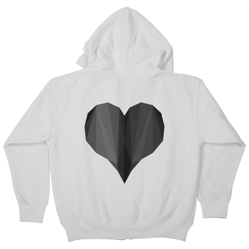Dark Heart Kids Zip-Up Hoody by igloo's Shiny Things