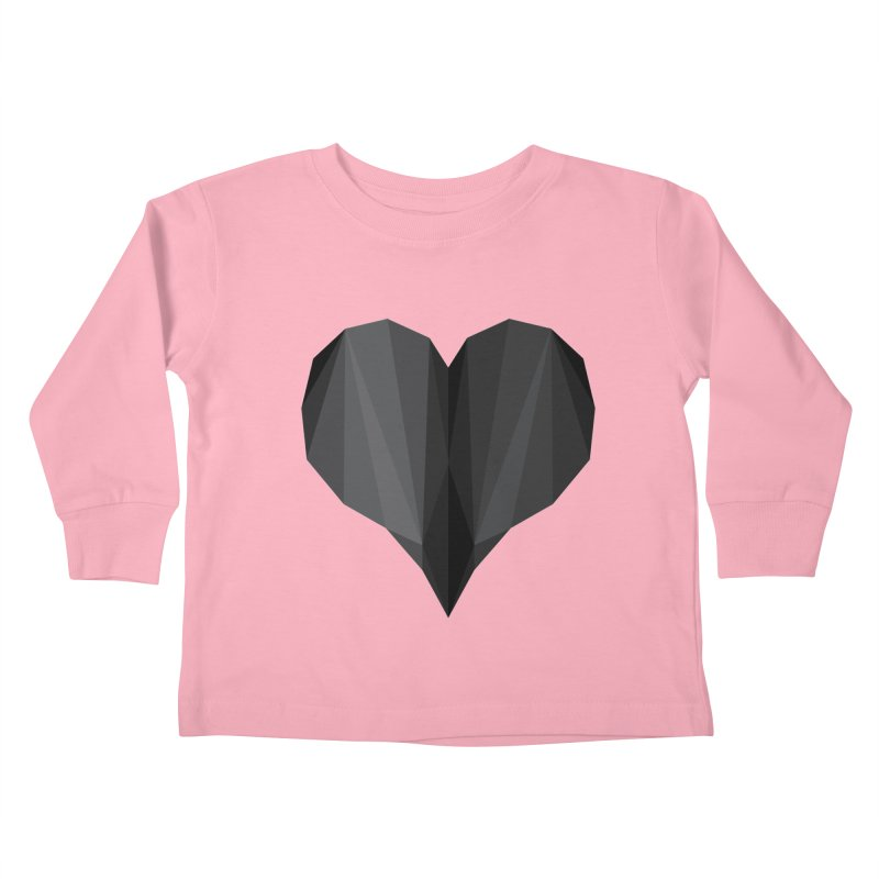 Dark Heart Kids Toddler Longsleeve T-Shirt by igloo's Shiny Things