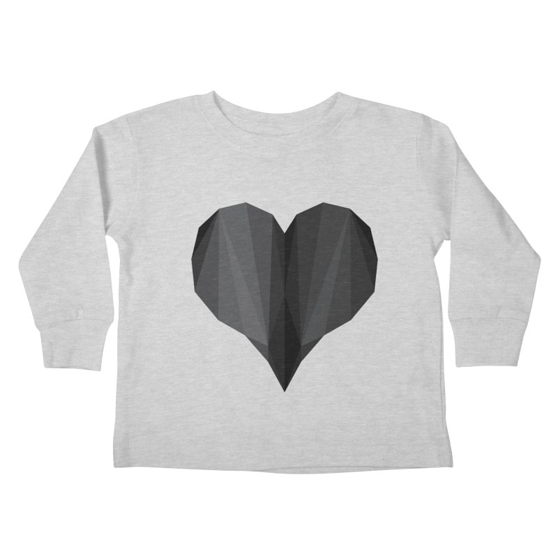 Dark Heart Kids Toddler Longsleeve T-Shirt by igloo's Shiny Things