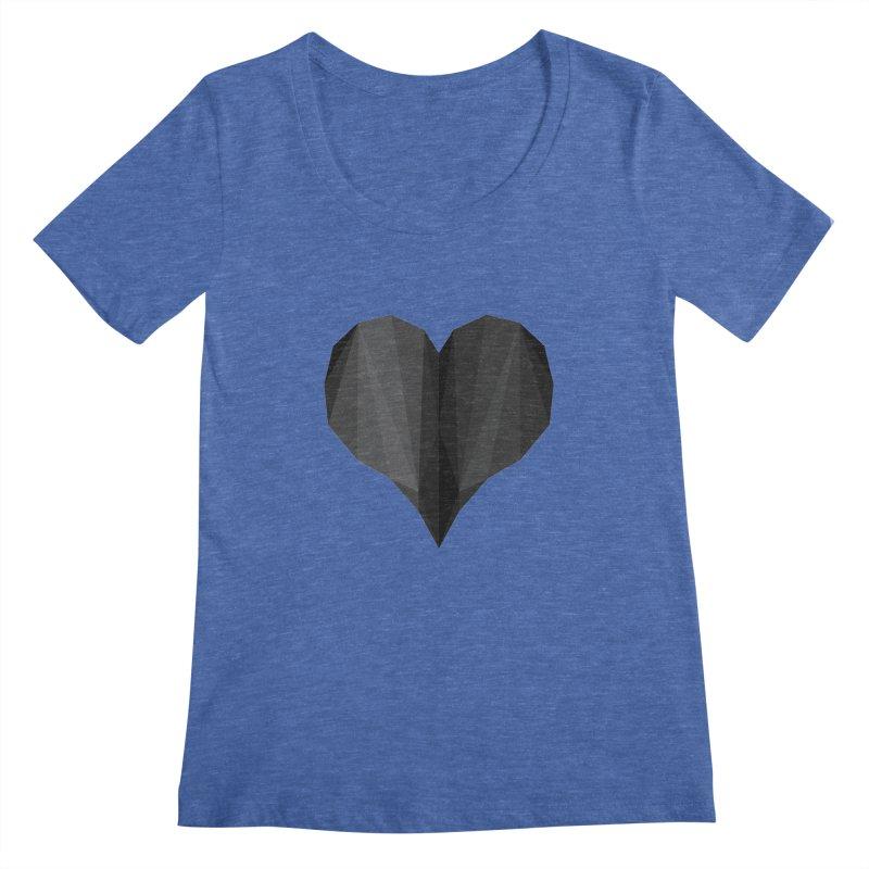 Dark Heart Women's Scoopneck by igloo's Shiny Things