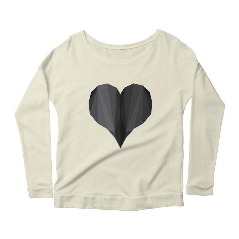 Dark Heart Women's Longsleeve Scoopneck  by igloo's Shiny Things