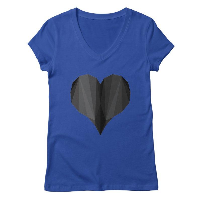 Dark Heart Women's V-Neck by igloo's Shiny Things