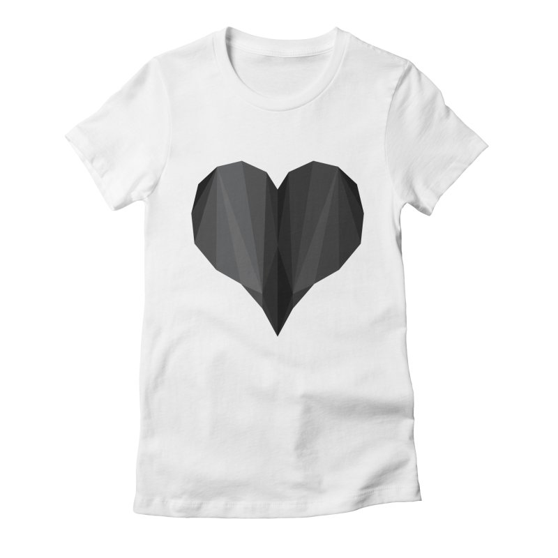 Dark Heart Women's Fitted T-Shirt by igloo's Shiny Things
