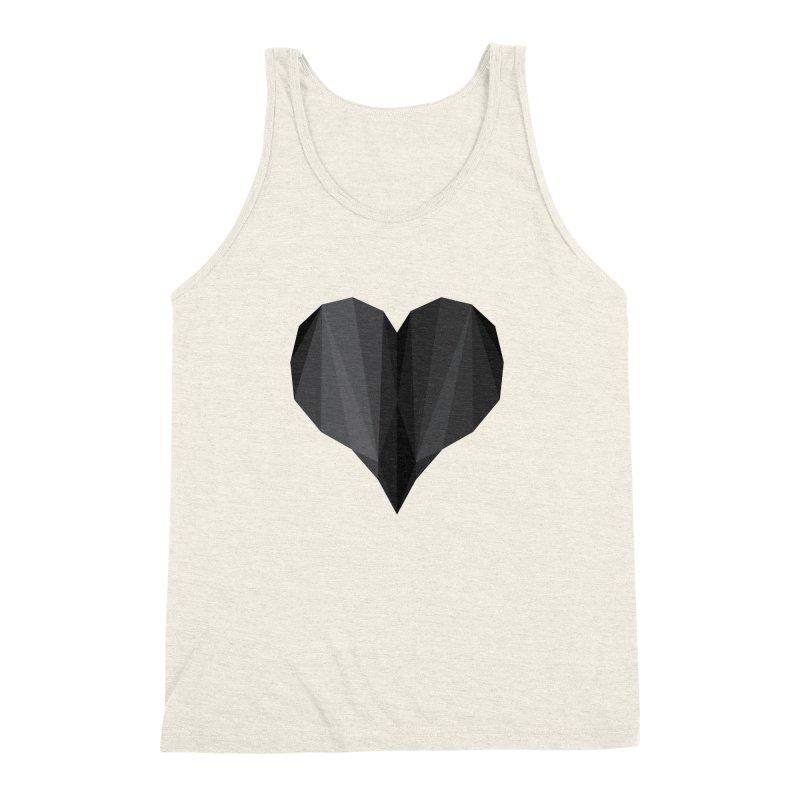 Dark Heart Men's Triblend Tank by igloo's Shiny Things