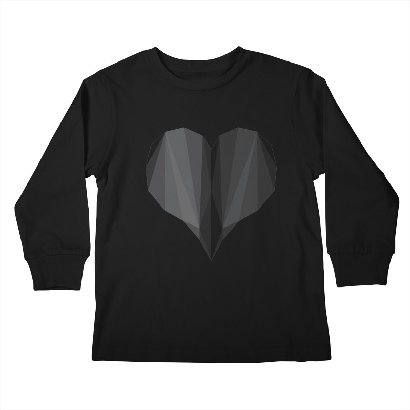 Dark Heart Kids Longsleeve T-Shirt by igloo's Shiny Things