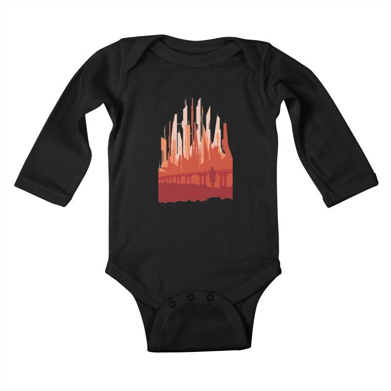 Wake Up Kids Baby Longsleeve Bodysuit by igloo's Shiny Things