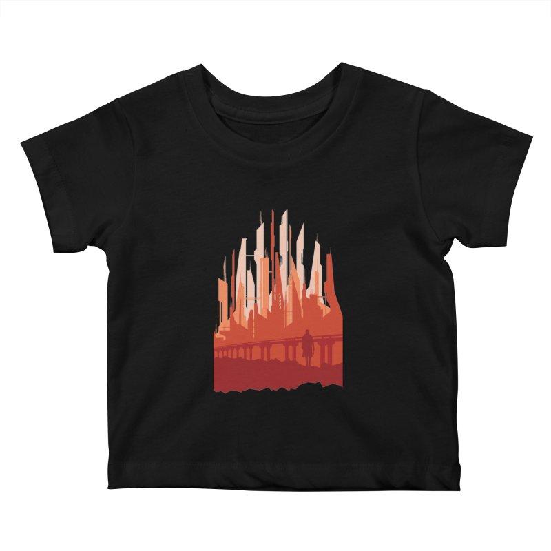 Wake Up Kids Baby T-Shirt by igloo's Shiny Things