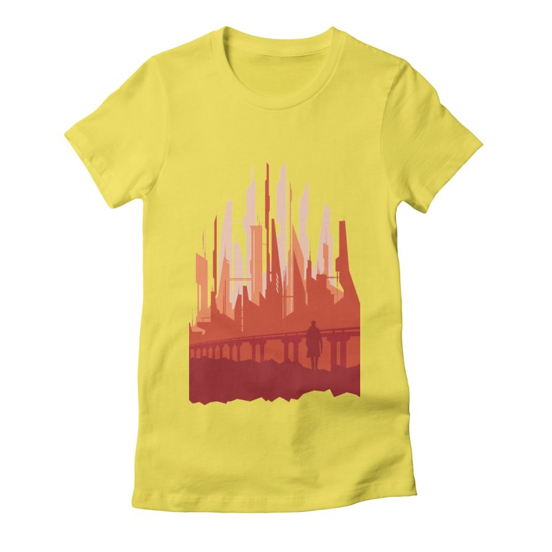 Wake Up Women's Fitted T-Shirt by igloo's Shiny Things
