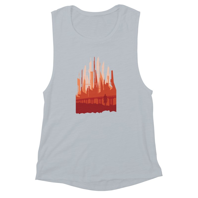 Wake Up Women's Muscle Tank by igloo's Shiny Things