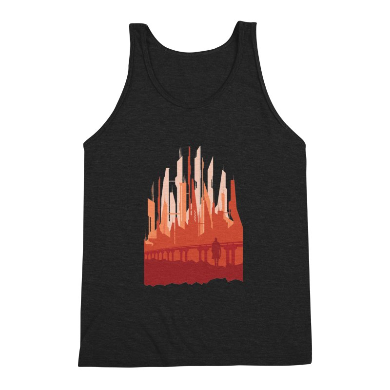 Wake Up Men's Triblend Tank by igloo's Shiny Things