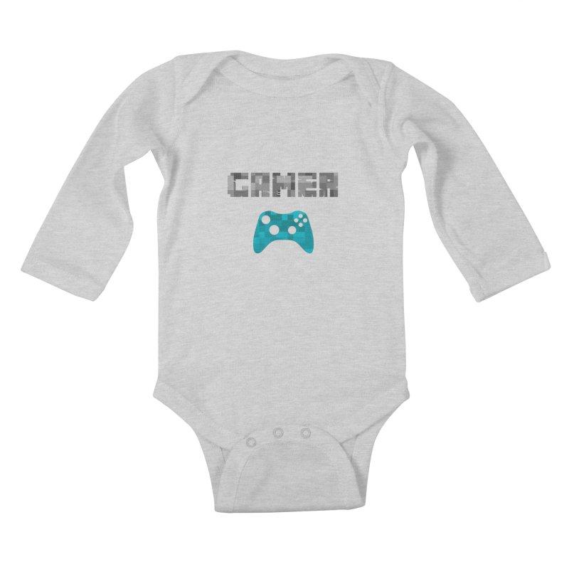 Gamer Kids Baby Longsleeve Bodysuit by Ignite on Threadless