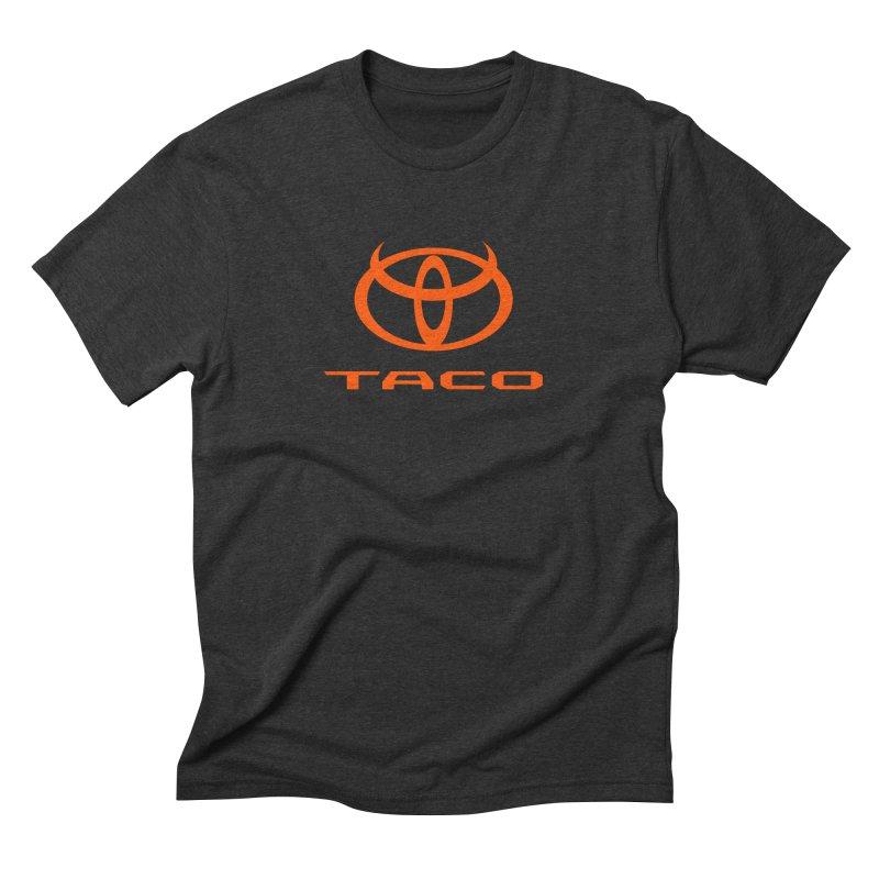 Evil Taco Orange in Men's Triblend T-Shirt Heather Onyx by Ignite on Threadless
