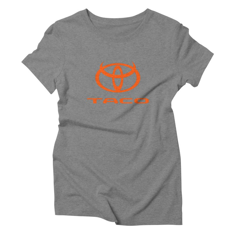 Evil Taco Orange Women's Triblend T-Shirt by Ignite on Threadless
