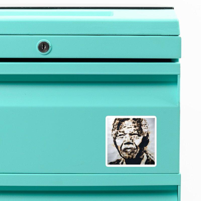 Nelson Mandela by Igor Josifov Accessories Magnet by Equity International - Arts & Culture's Artist Sho