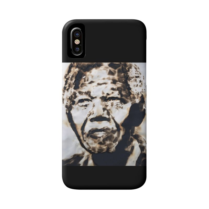Nelson Mandela by Igor Josifov Accessories Phone Case by Equity International - Arts & Culture's Artist Sho
