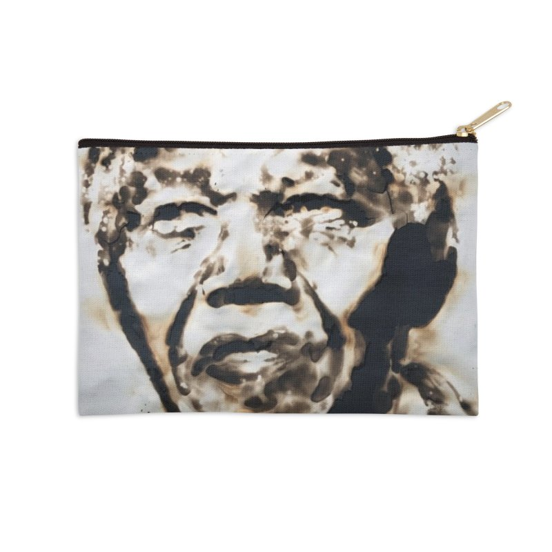 Nelson Mandela by Igor Josifov Accessories Zip Pouch by Equity International - Arts & Culture's Artist Sho