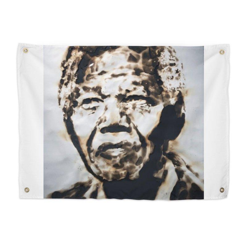 Nelson Mandela by Igor Josifov Home Tapestry by Equity International - Arts & Culture's Artist Sho