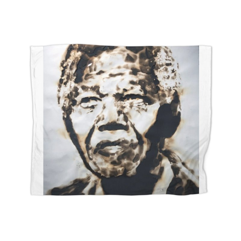 Nelson Mandela by Igor Josifov Home Blanket by Equity International - Arts & Culture's Artist Sho