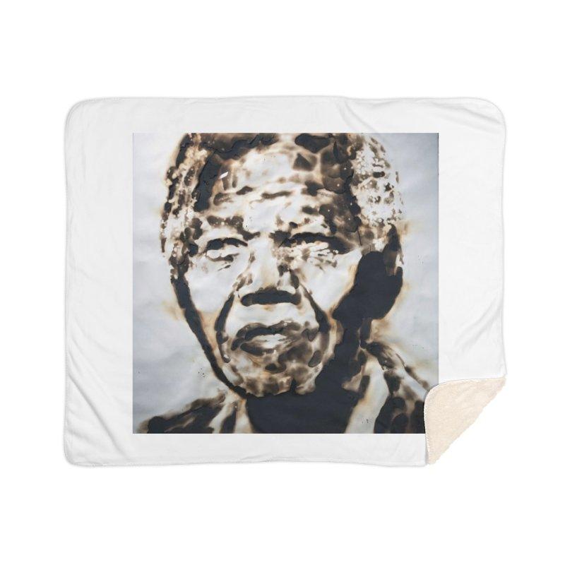 Nelson Mandela by Igor Josifov Home Blanket by Equity International - Arts & Culture's Artist Sho
