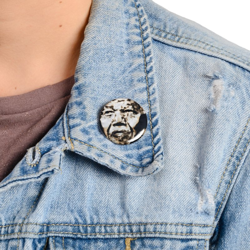 Nelson Mandela by Igor Josifov Accessories Button by Equity International - Arts & Culture's Artist Sho