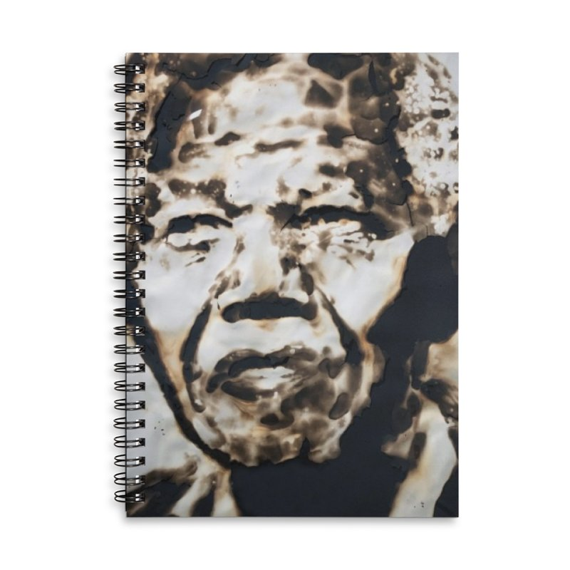 Nelson Mandela by Igor Josifov Accessories Notebook by Equity International - Arts & Culture's Artist Sho