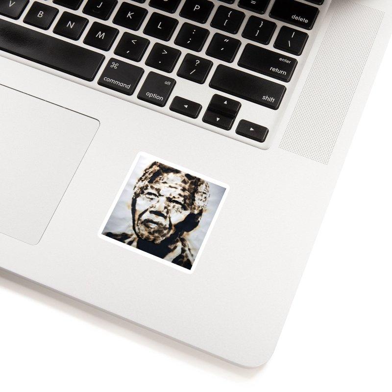 Nelson Mandela by Igor Josifov Accessories Sticker by Equity International - Arts & Culture's Artist Sho
