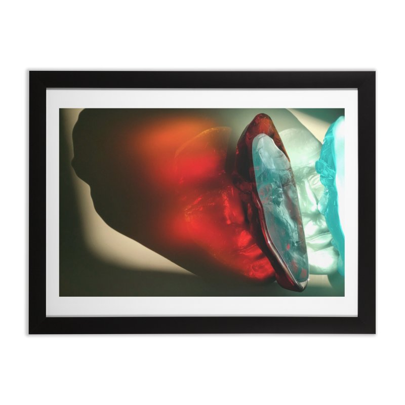Spectrum - crystal sculpture by Igor Josifov Home Framed Fine Art Print by Equity International - Arts & Culture's Artist Sho