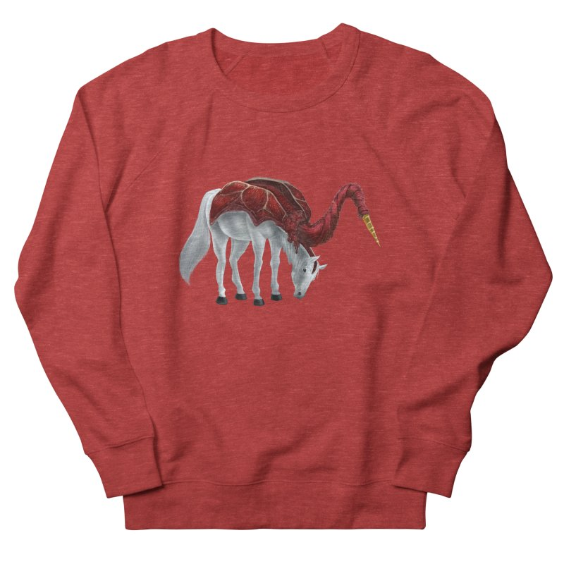 Mimicorn Women's French Terry Sweatshirt by Igzell's Artist Shop
