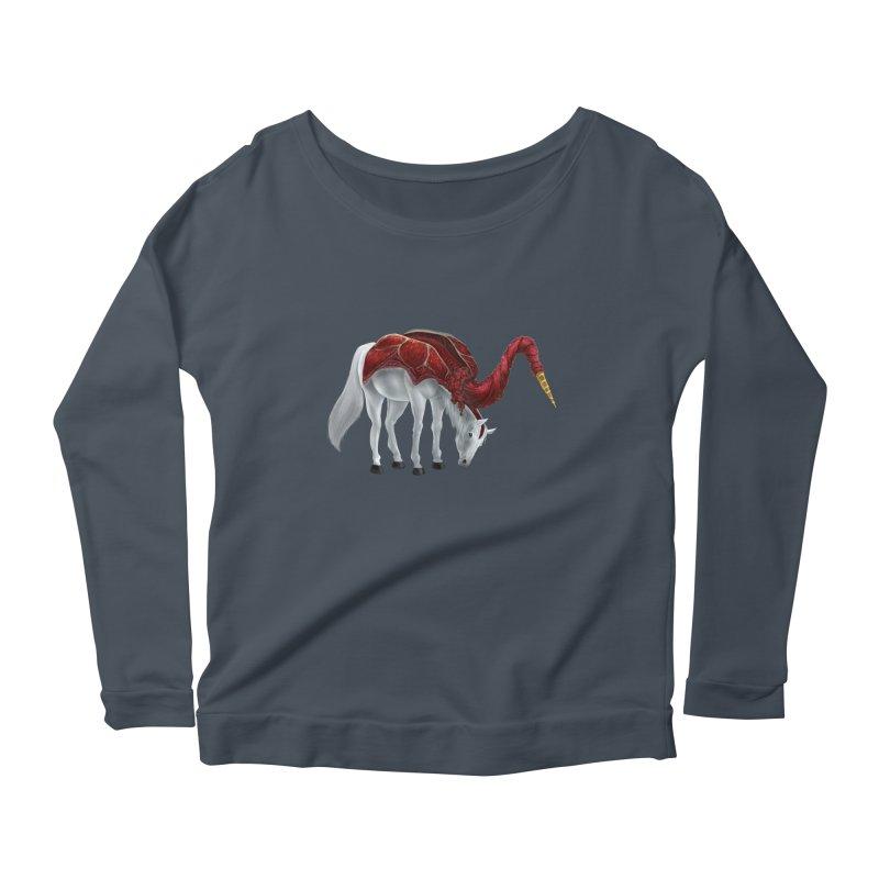 Mimicorn Women's Scoop Neck Longsleeve T-Shirt by Igzell's Artist Shop