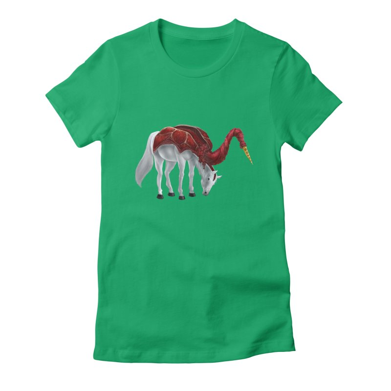 Mimicorn Women's Fitted T-Shirt by Igzell's Artist Shop