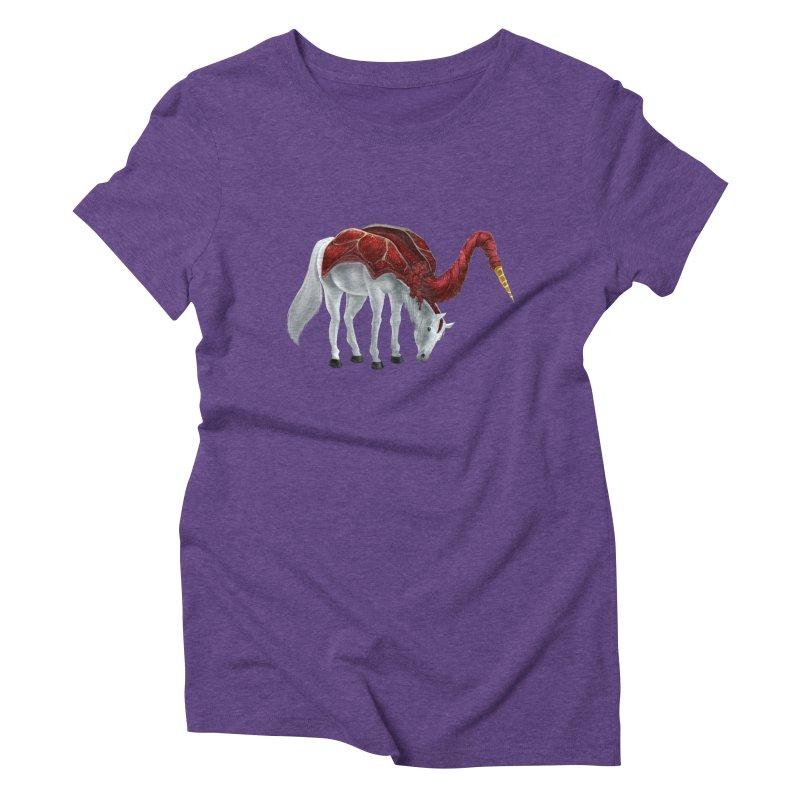 Mimicorn Women's Triblend T-Shirt by Igzell's Artist Shop