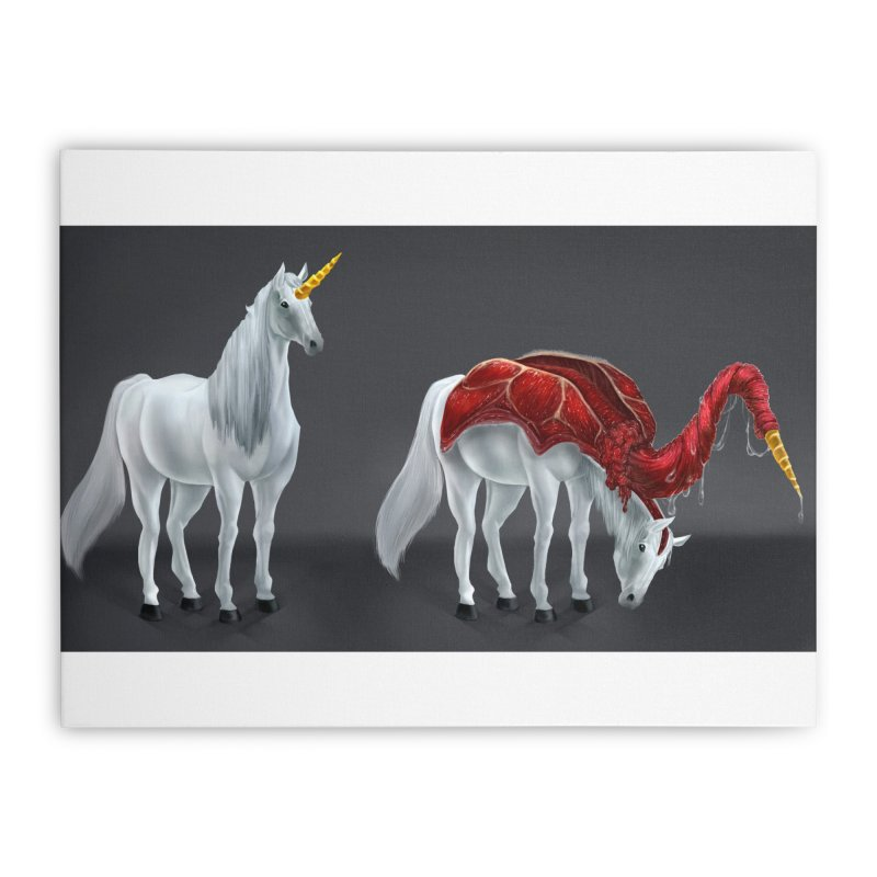 Mimicorn Home Stretched Canvas by Igzell's Artist Shop