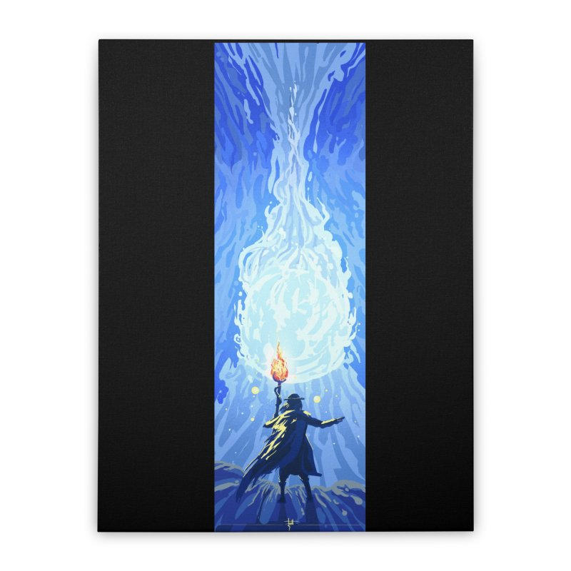 Snow ball Home Stretched Canvas by Igzell's Artist Shop