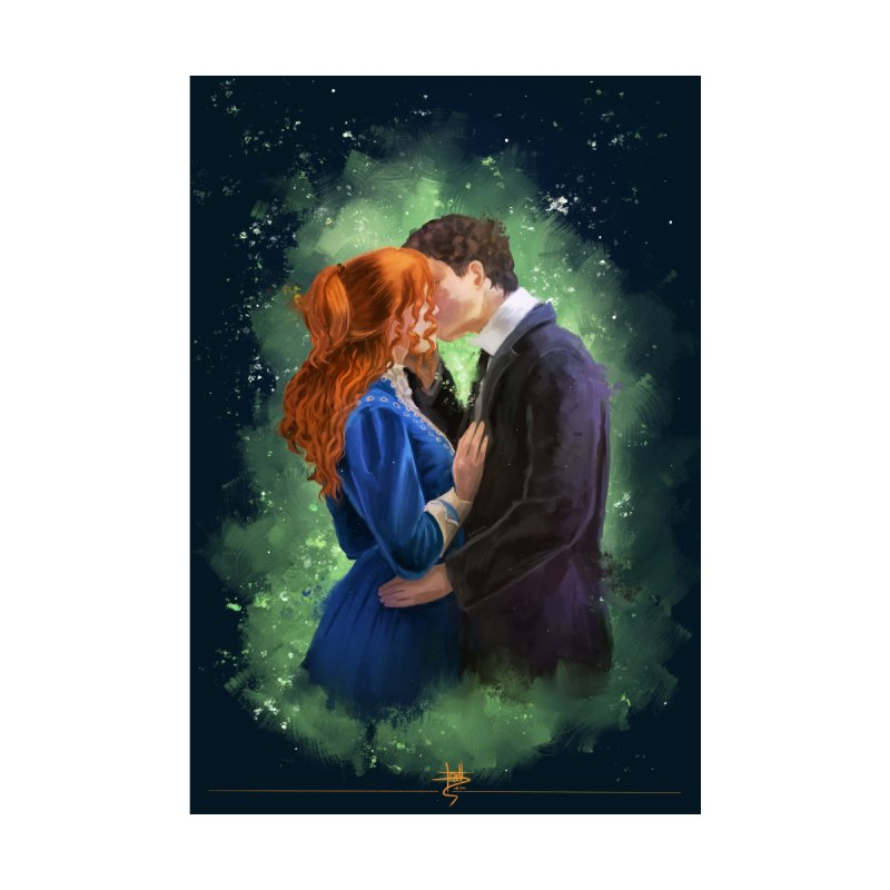 Anne with an E Gilbert Kiss Home Fine Art Print by Igzell's Artist Shop