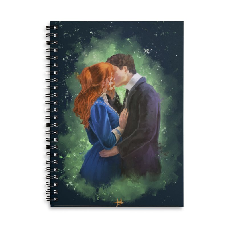 Anne with an E Gilbert Kiss Accessories Lined Spiral Notebook by Igzell's Artist Shop