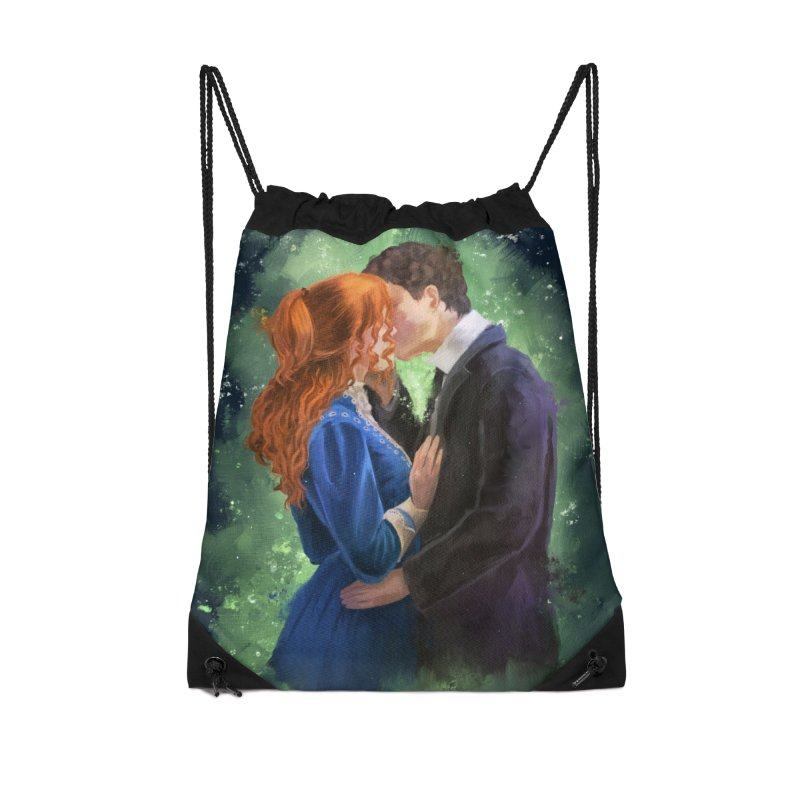Anne with an E Gilbert Kiss Accessories Drawstring Bag Bag by Igzell's Artist Shop