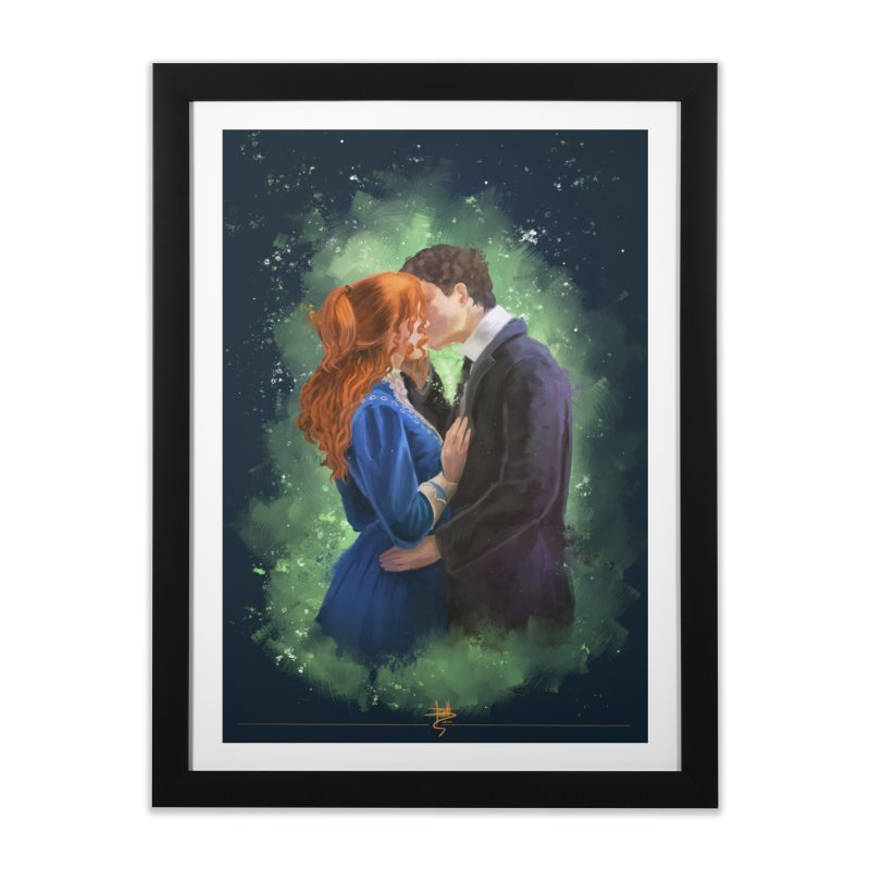 Anne with an E Gilbert Kiss Home Framed Fine Art Print by Igzell's Artist Shop