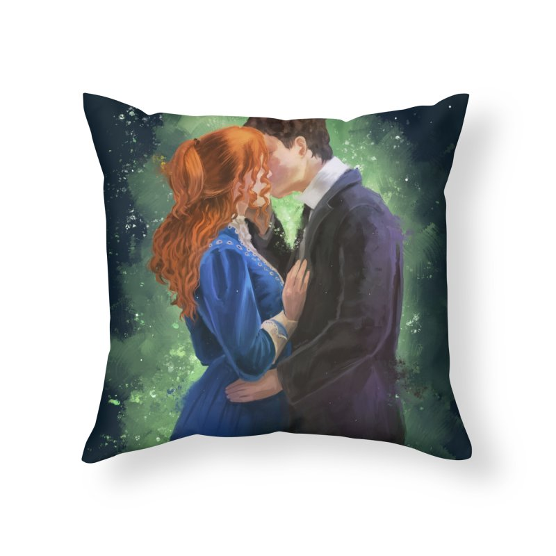 Anne with an E Gilbert Kiss Home Throw Pillow by Igzell's Artist Shop