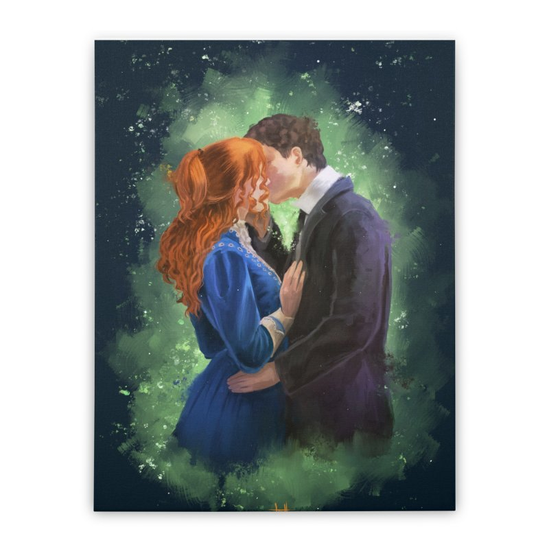 Anne with an E Gilbert Kiss Home Stretched Canvas by Igzell's Artist Shop