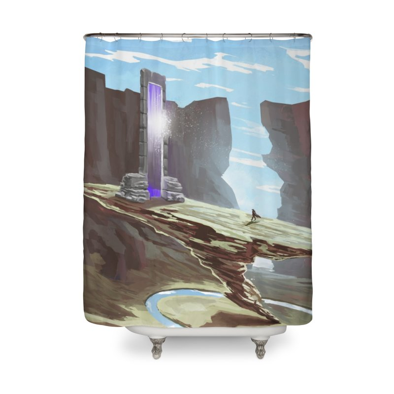 The Portal Home Shower Curtain by Igzell's Artist Shop