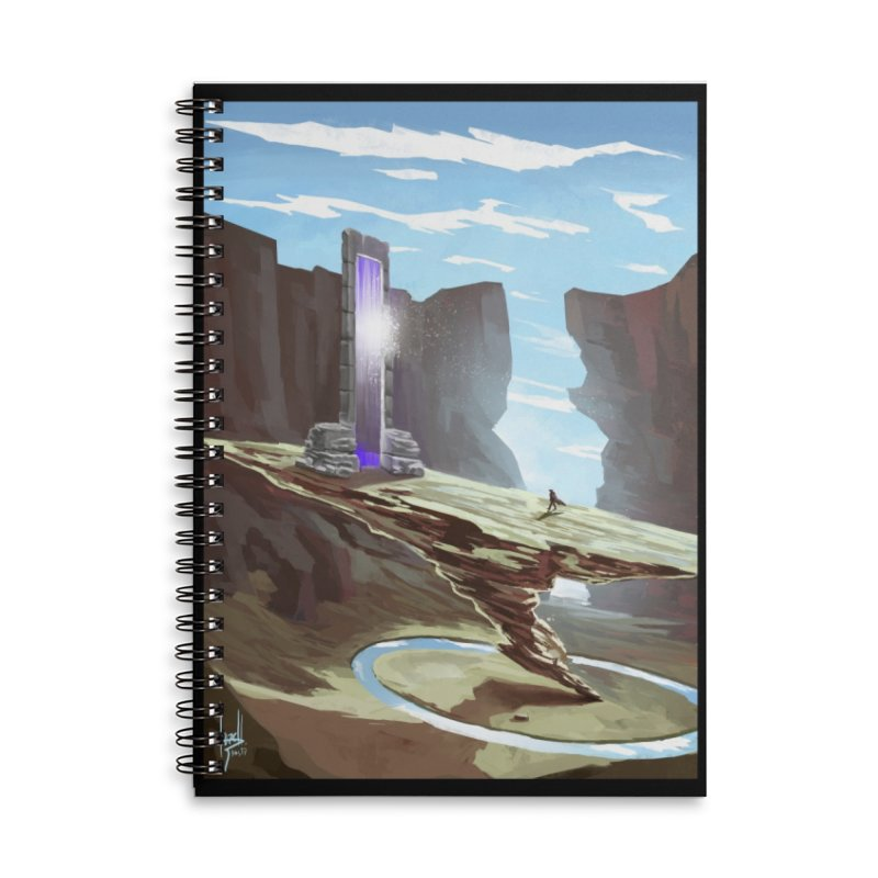 The Portal Accessories Lined Spiral Notebook by Igzell's Artist Shop