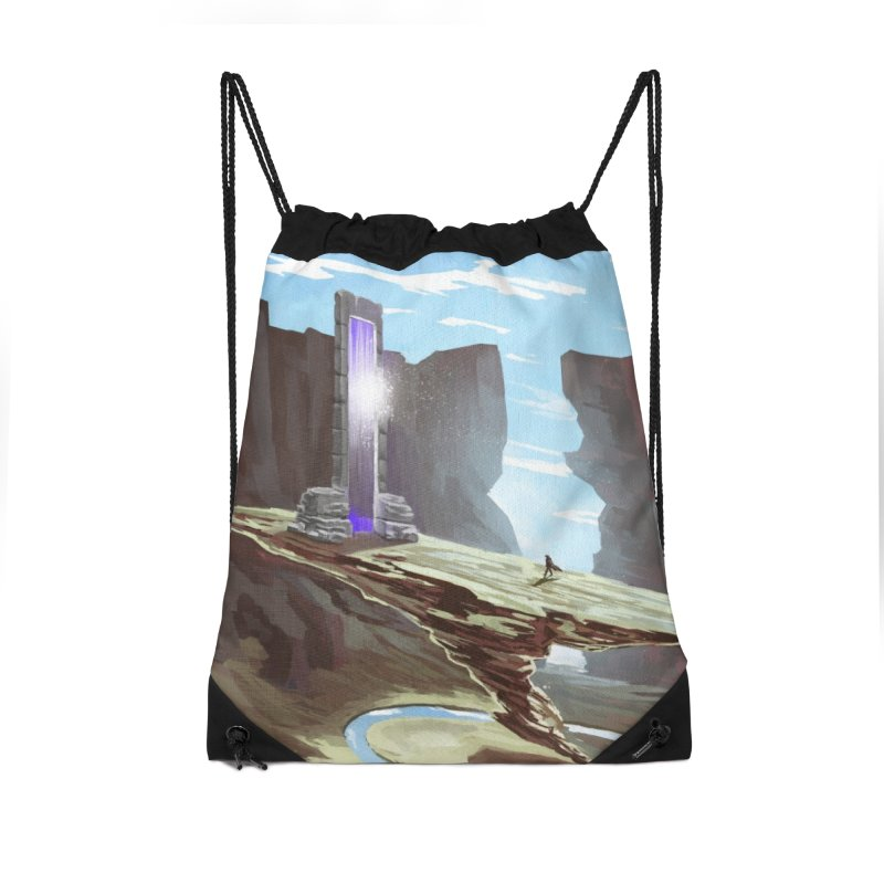 The Portal Accessories Drawstring Bag Bag by Igzell's Artist Shop