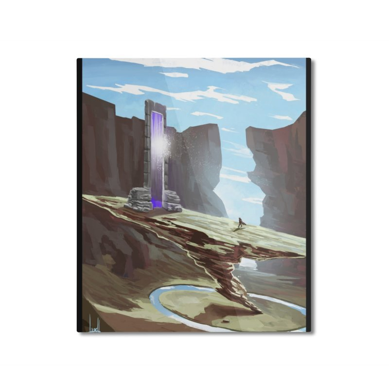 The Portal Home Mounted Aluminum Print by Igzell's Artist Shop