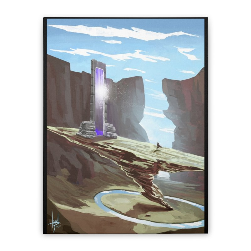 The Portal Home Stretched Canvas by Igzell's Artist Shop