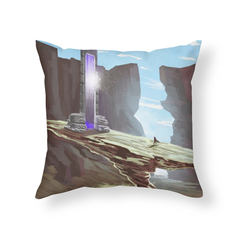 The Portal Home Throw Pillow by Igzell's Artist Shop